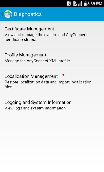 AnyConnect Android Certificate Management