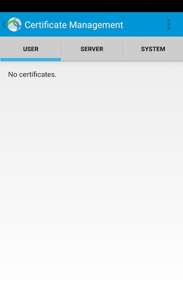 AnyConnect Android No Certificate Yet